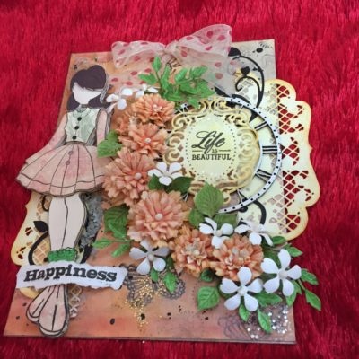 mix media greeting card
